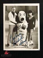 Charles Schulz signed Black & White Photo Snoopy Inscribed JSA LOA d.2000 B437