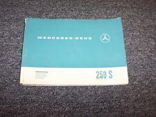 1967 Mercedes Benz 250S Original Owner Owner's Operator User Guide Manual