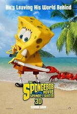 "SPONGEBOB MOVIE: SPONGE OUT OF WATER -2015- orig D/S 27X40 ADV ""A"" Movie Poster"