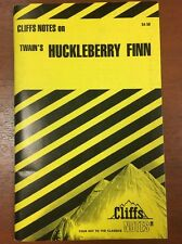 The Adventures of Huckleberry Finn by Cliffs Notes Staff (1963, Paperback)