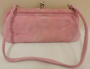 L.K. Bennett Pink Matt Velvet Type Small Purse / Clutch Bag (D5)