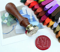 Seal Vintage Stamp W/ 2 Wax Invitation Personalised letter Alphabet Embosser NEW
