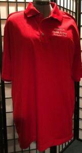 Nike Golf Dri Fit Mens XL  Abarta COCA COLA Beverages Red
