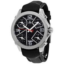 Jacob and Co. Five Time Zone Black Dial Diamond Mens Watch JCM-29DA