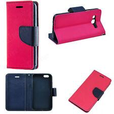 Fancy Buch Handy Tasche f LG K10 LTE Wallet Hülle Seiten Klapp Case Etui PINK