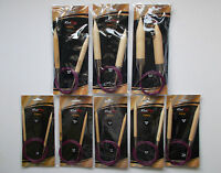 Knitpro basix birch circular knitting needles, extra large chunky needles, 120cm