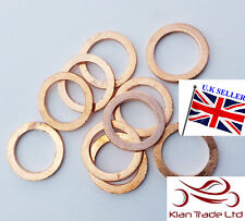 M14 Copper crush washers .7MM THIN 14mm fuel brake OIL M14 x 20 x .7 -10 PCS