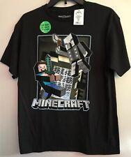 Mojang Boys Minecraft Steve Vindicator Glow In The Dark Tee Shirt Size XL