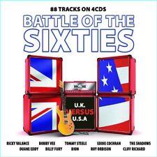Battle of the 1960's UK vs USA 88 Tracks 4 CD Set Shadows Ricky Valance + More