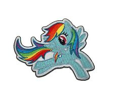 My Little Pony MLP Rainbow Dash Patch Pegasus G4 Embroidered Iron On Applique