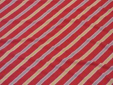 Cutter Fabric Knit Tee T-Shirt Material Red Brown Yellow White Stripes 1.75 Yard