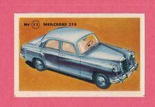 Mercedes 219 Vintage 1950s Car Collector Card from Sweden
