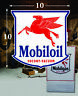 """(1) 10"""" x 10"""" Mobil Oil Mobiloil Shield Gas Decal Lubester Oil Pump Can Restore"""