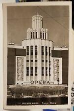 1930's Teatro Opera Theater Art Deco, Buenos Aires Argentina Real Photo Postcard