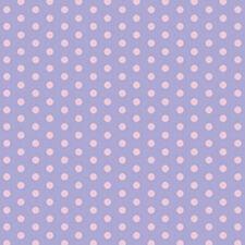 SOFT COTTON BABY CLOTH DRESS BEDDING FABRIC PINK POLKA DOT DOTTY SPOT PURPLE 44'