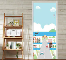 3D Cartoon City 16 Door Wall Mural Photo Wall Sticker Decal Wall AJ WALLPAPER AU