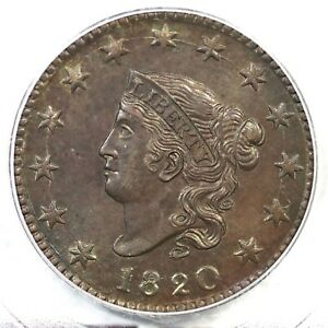 1820 N-13 PCGS MS 64 BN Lg Date Matron or Coronet Head Large Cent Coin 1c