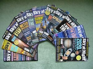 BBC SKY AT NIGHT MAGAZINE 12 ISSUES FOR THE YEAR 2020 VERY GOOD USED O