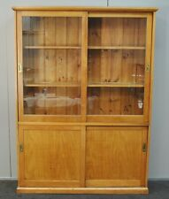 Large Antique / Vintage Industrial Kauri Pine School Cabinet / Bookcase