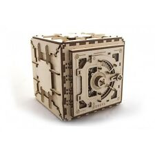 3D Mechanical Puzzle SAFE wooden moving model for self-assembly storage box