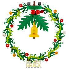 Large Christmas Wreath - Made from LEGO - Festive Xmas Decoration - 14cm wide