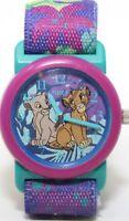 VTG Timex Disney The Lion King Nala & Simba Watch Kids Elastic Band Vintage 90s
