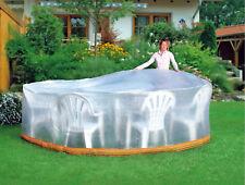 WEHNCKE Schutzhülle für Sitzgruppe 320x93cm transparent, farbige Bordüre - 15192