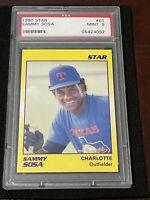 1990 STAR Baseball SAMMY SOSA ROOKIE, MINT PSA 9, Chicago CUBS HOMERUN ALLSTAR