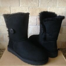 UGG Classic Short Bailey Button II Water-resistant Black Boots Size US 12 Womens