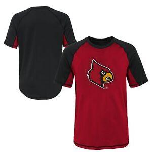 Outerstuff NCAA Youth Louisville Cardinals Color Block Rash Guard Shirt
