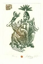 Exlibris Etching Bookmark: Baramov