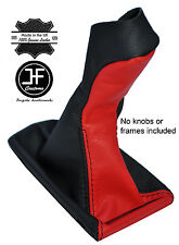 BLACK & RED LEATHER MANUAL GEAR KNOB GAITER COVER FITS MERCEDES E CLASS W211