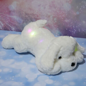 Cute Plush Toy Stuffed Puppy Doggie With LED Night Light Nice Gifts For Kids