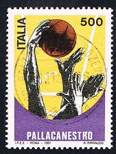ITALIA 1 FRANCOBOLLO LO SPORT ITALIANO PALLACANESTRO 1991 usato