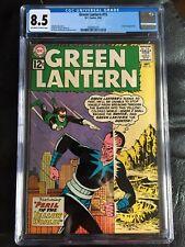 GREEN LANTERN #15 CGC VF+ 8.5; OW-W; Sinestro cover!