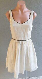 💜 GUESS Sleeveless A-Line Dress Ivory Size 0 Buy7=FreePost L819