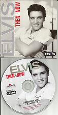 ELVIS PRESLEY Then & Now ULTRA RARE 2TRX LIMITED PROMO DJ CD Single 2002 USA