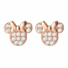 Disney Minnie Mouse Rose Gold Stud Earrings
