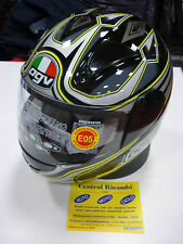 CASCO INTEGRALE AGV GP-1 BLACK YELLOW MOTORCYCLE HELMET HELM CASQUE AGV XL