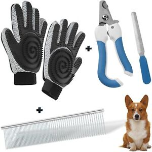 Steel Comb/Pet Nail Clippers/Pet Grooming Glove/Grooming Supplies Great for Dogs