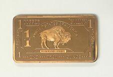 1 Gram .999 LEAD Bullion Bar Buffalo