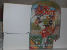 Vtg. 1970s Pro Sports Marble Table Top Pinball Game