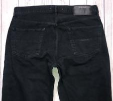 Mens STONE ISLAND Jeans W36 L30 Black Straight Leg Fit