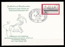 FRITZ WALTER GERMAN TEAM FORWARD 1954-58 WORD CUP FOOTBALL  ORIGINAL SIGNATURE