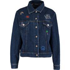 New Motel Rocks Blue Applique Hero Denim Jacket - 100% Cotton - Size S - RRP £52