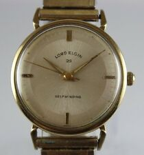 Vintage Lord Elgin 25 Jewels Automatic 33mm Men's Wrist Watch LOT#0412