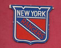 RARE 1970S OPC NEW YORK RANGERS  LOGO  INSERT CARD