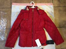 Burberry Children NWT Girl's Red down Jacket (10Y)