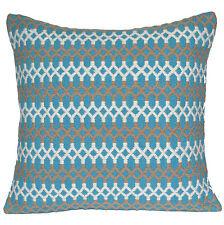"Handmade Kilim Cushion Cover 20"" 50cm Cotton Indian Persian Moroccan Aqua White"
