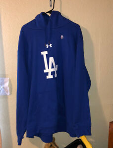 LOS ANGELES DODGERS Baseball UNDER ARMOUR Hoodie 5XL Sweatshirt NEW No Tags MLB